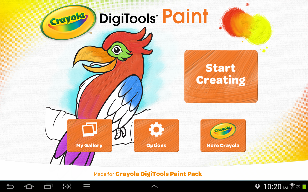 Crayola DigiTools Paint - screenshot