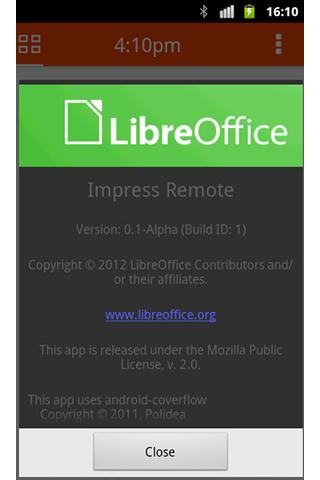 LibreOffice Impress Remote Control Android Application Image