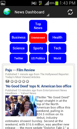 News Dashboard for RSS Feeds