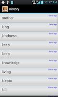Screenshot of English Tamil Dictionary