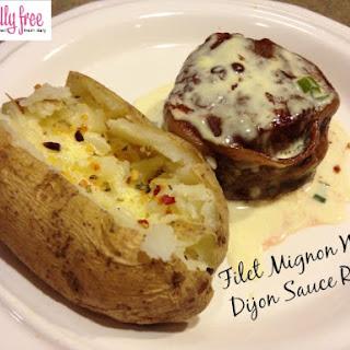 Filet Mignon With Dijon Sauce.