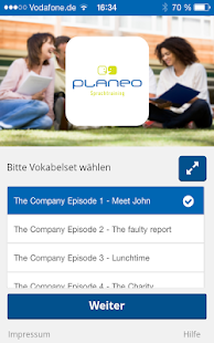 planeo Vokabel-App- screenshot thumbnail
