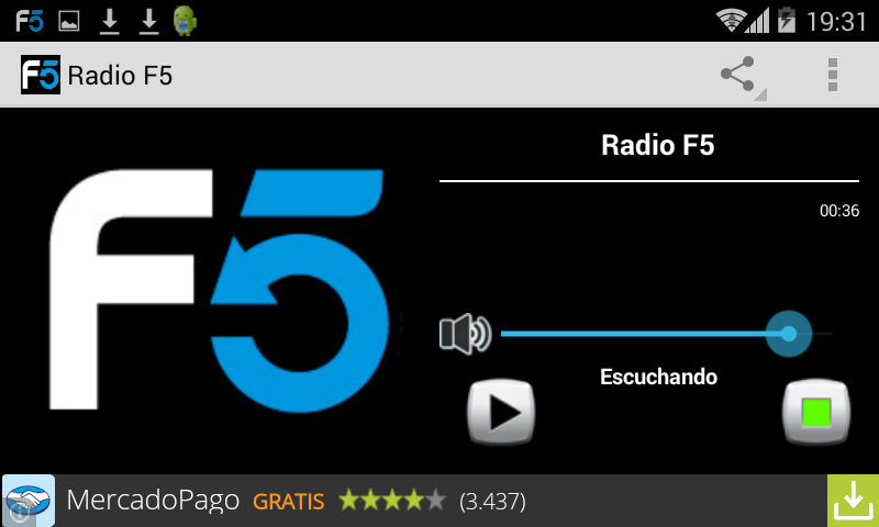 Radio F5- screenshot