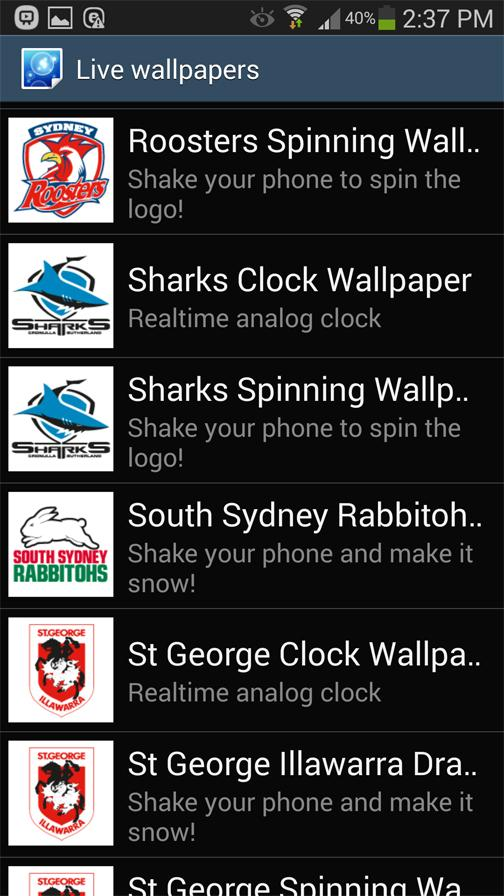 Sydney Roosters Spinning Logo- screenshot