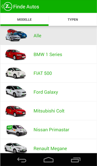 Zipcar – Screenshot