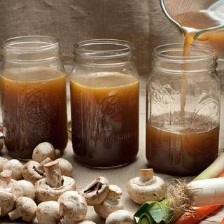 Easy Mushroom Broth.