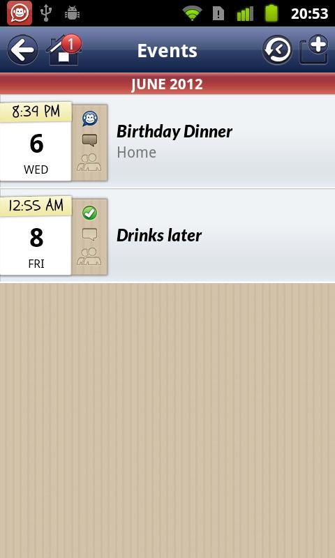 SynkMonkey - Social Calendar - screenshot