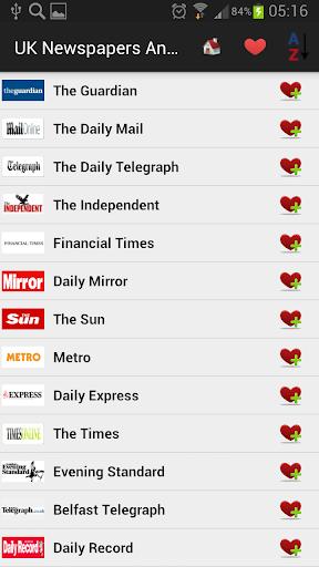 UK Newspapers And News