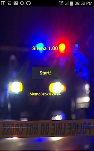 Luci e sirena della Polizia