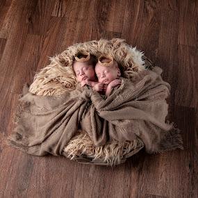 Newborn Twins by George Holt - Babies & Children Child Portraits ( babies, male, boys, cute, infants, twins, newborn )