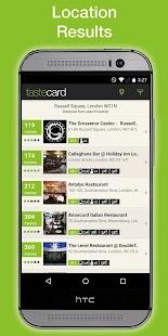 tastecard Restaurant Discounts - screenshot thumbnail