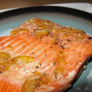 Baked Salmon with Marmalade