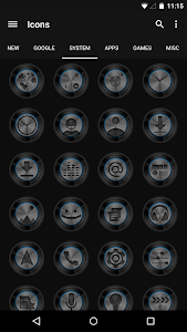 Dark Metal Blue - Icon Pack v3.2.4.1