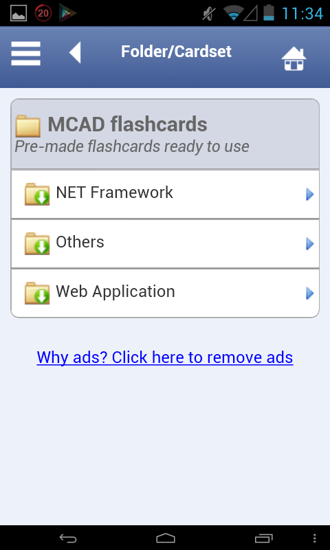 MCAD Flashcards - screenshot