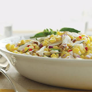 Chilled Corn and Crab Salad.