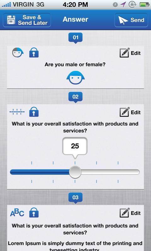 Datafield, Forms and Surveys- screenshot
