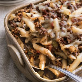 Baked Penne with Lamb, Eggplant and Fontina