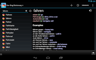 Screenshot of German English Dictionary +