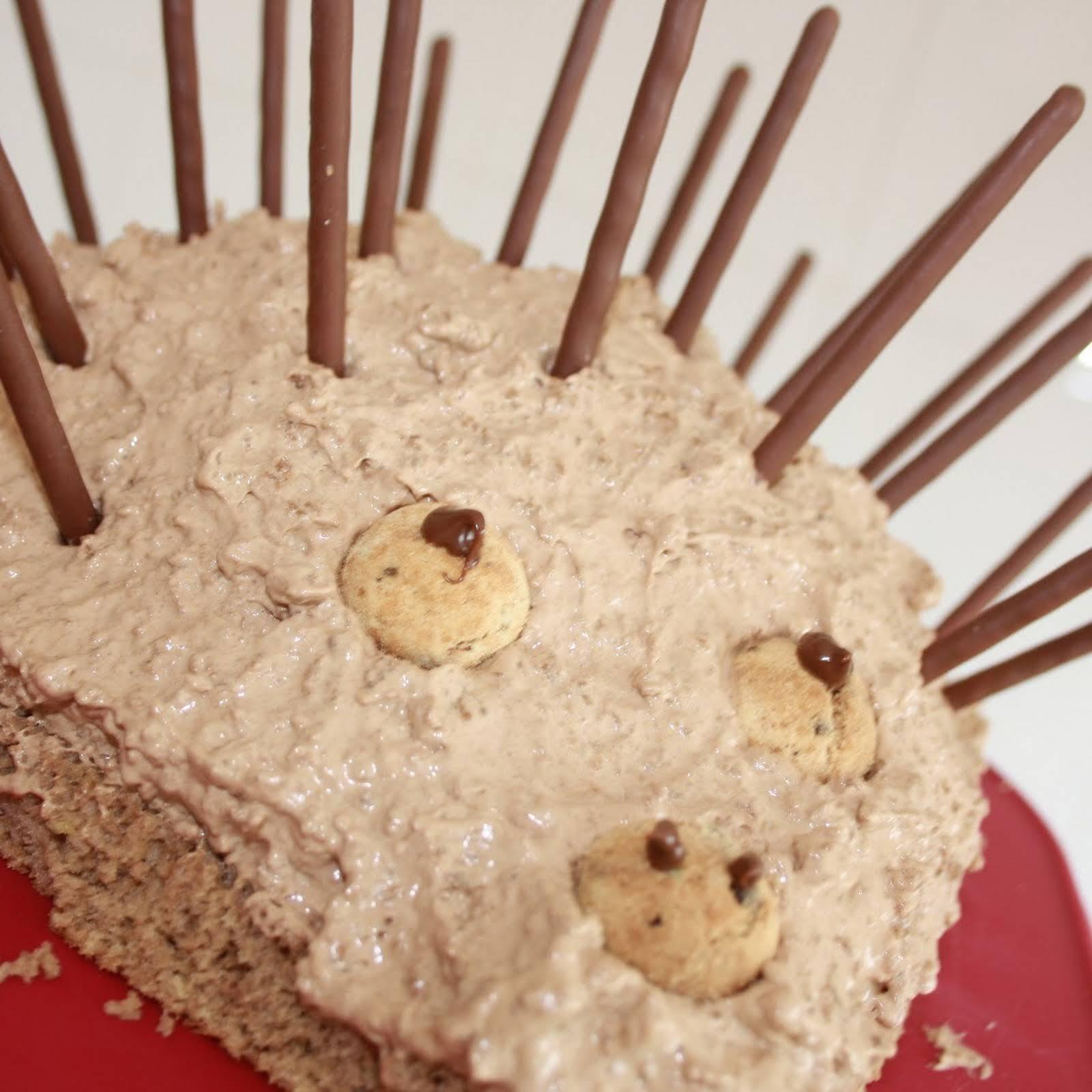 Pleasing Hedgehog Birthday Cake Recipe Yummly Funny Birthday Cards Online Inifodamsfinfo