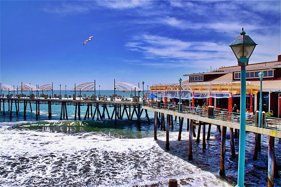 Redondo Beach Pier by Richard Timothy Pyo - City,  Street & Park  Street Scenes ( harbor, california, redondo beach, king's harbor pier, kings, beach )