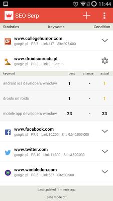 SEO SERP APP - screenshot