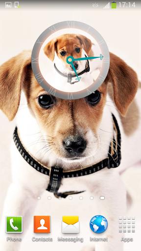 可爱的狗 时钟小工具