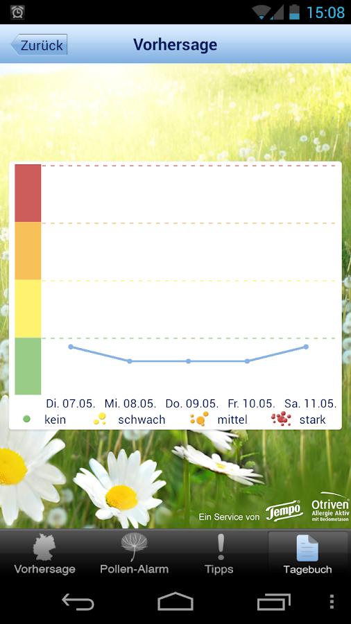 Pollenwarner von Tempo&Otriven - screenshot