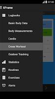 Screenshot of Cross Workout Log Tracker