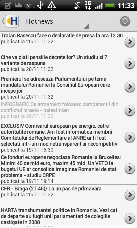 Romania News - screenshot