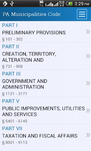 PA Muncipalities General Code