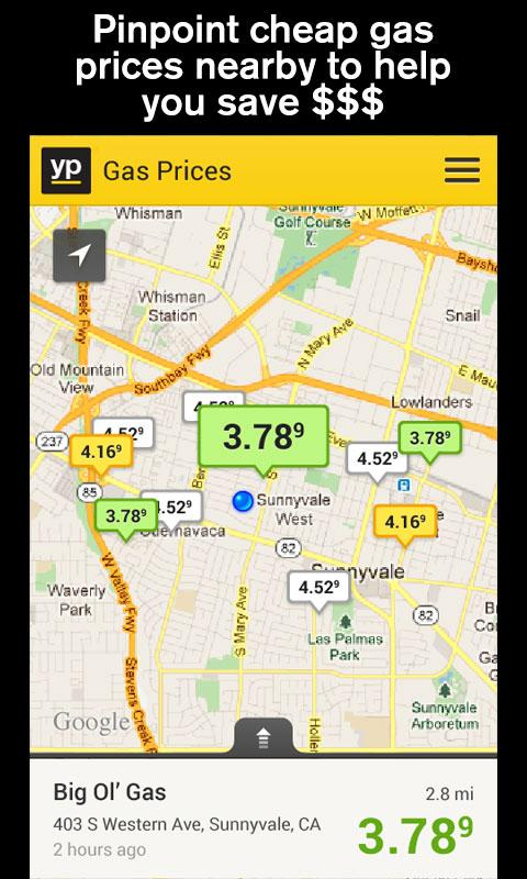 YP Local Search & Gas Prices - screenshot