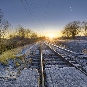 Trainspotting by Manu Heiskanen - Uncategorized All Uncategorized ( sweden, winter, snow, eskilstuna, rail, train )