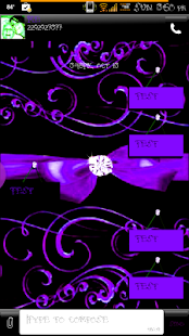 Elegant Passion GO SMS Theme - screenshot thumbnail