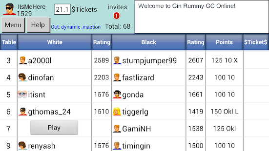 Gin Rummy GC Online- screenshot thumbnail