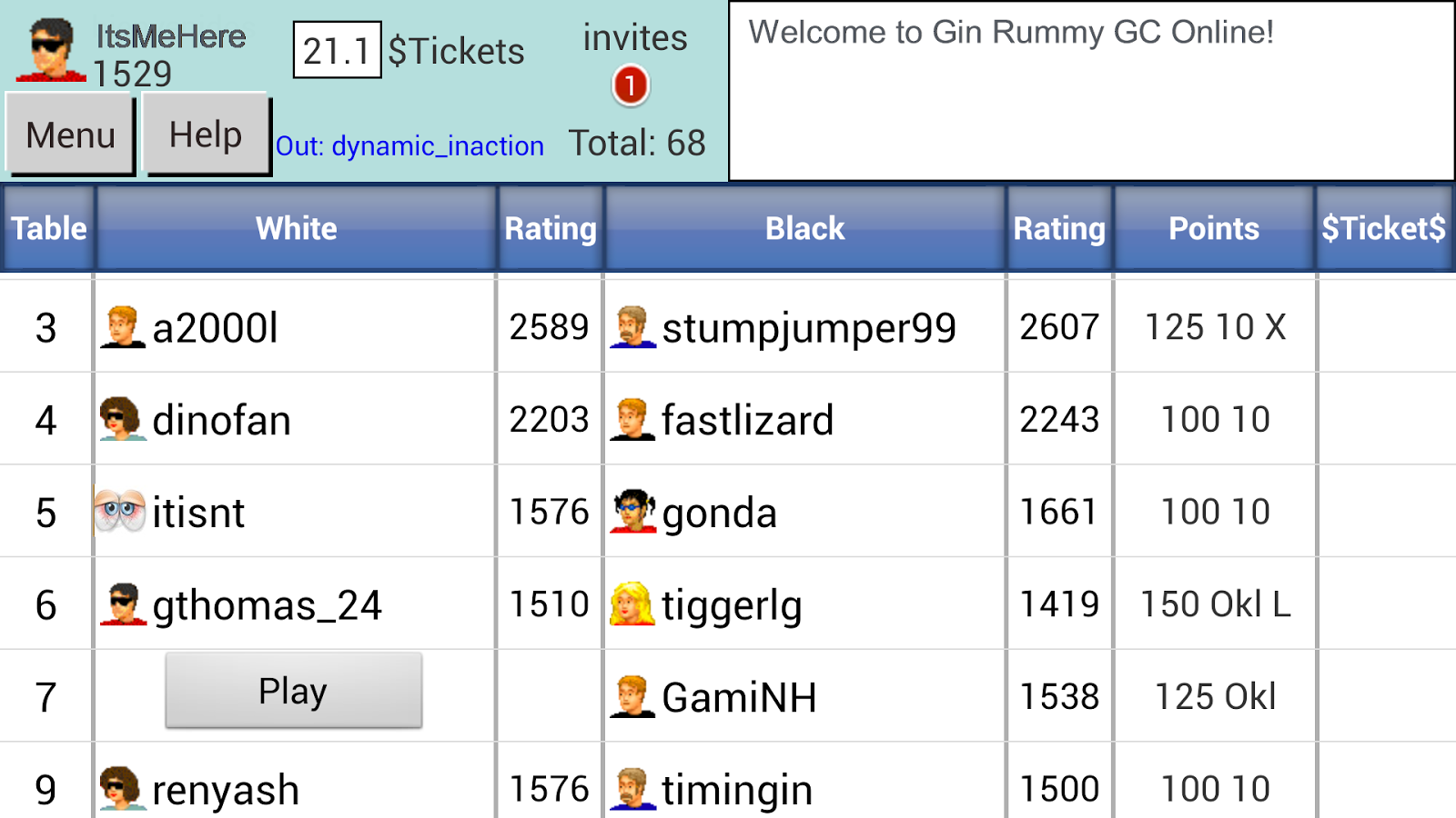 Gin Rummy GC Online- screenshot