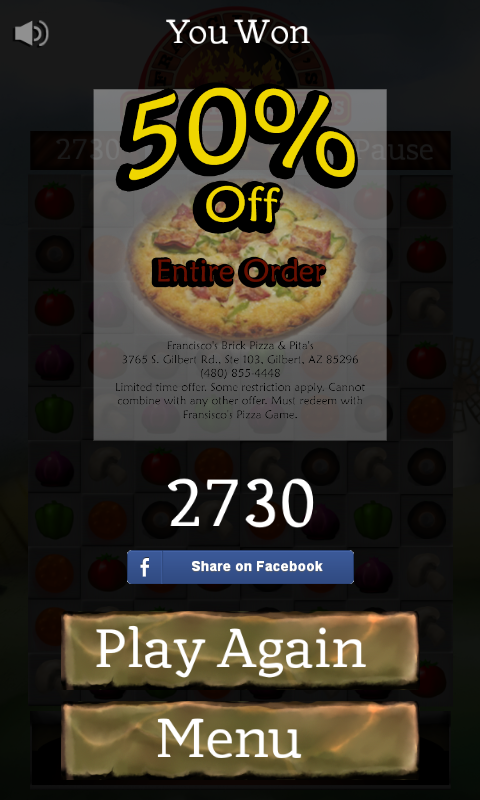 Francisco's Brick Pizza Game- screenshot