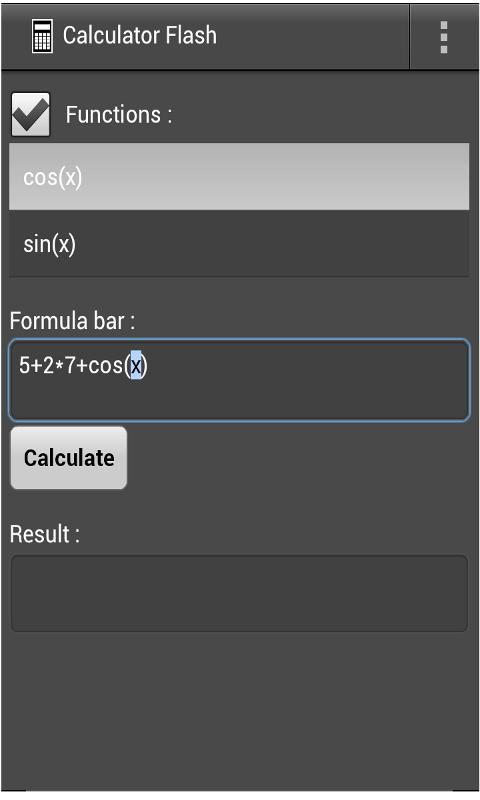 Calculator Flash- screenshot