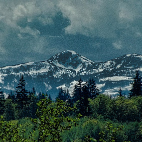 Van Isle Mountains in November by Art Straw - Landscapes Mountains & Hills ( clouds, mountains, outdoors, snow, scenic, landscape )