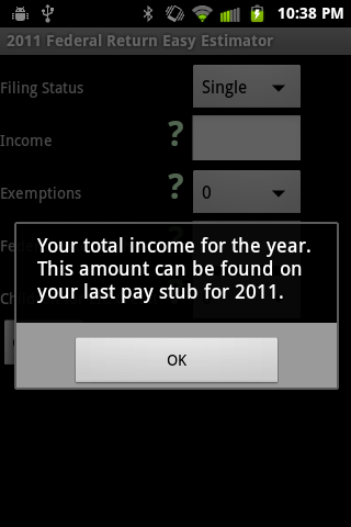 2011 Simple Federal Tax Return - screenshot