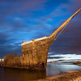 by Mark Anolak - Transportation Boats ( chile, punta arenas, ruins, boat,  )