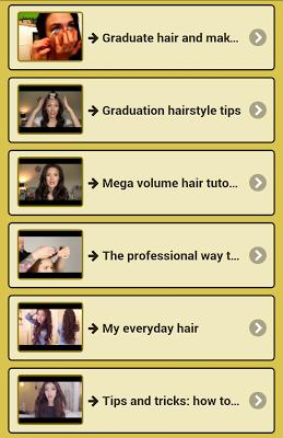 Easy hairstyles - screenshot