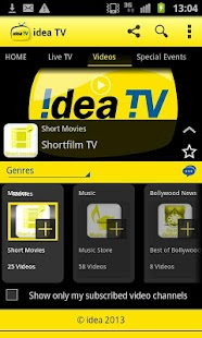 IDEA Mobile TV Live TV - screenshot thumbnail
