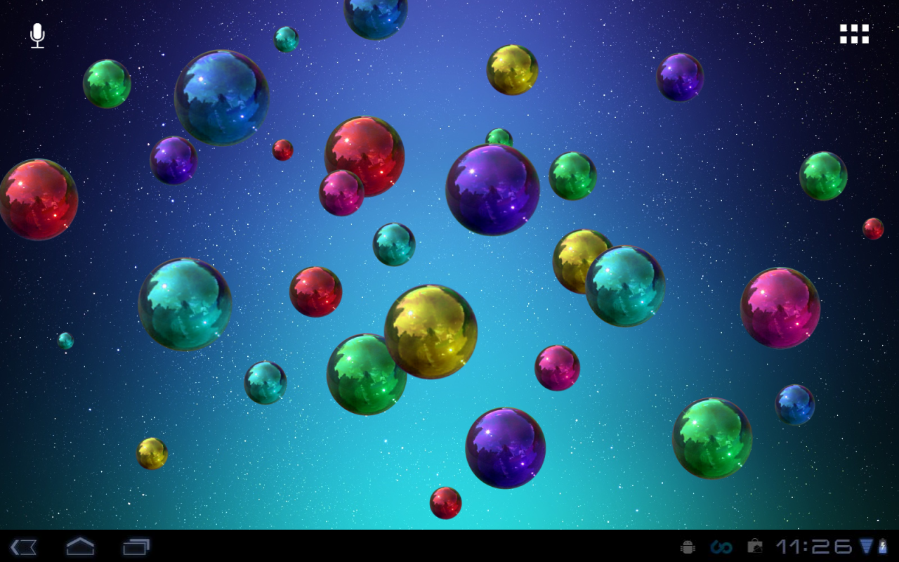 3d Bubbles Wallpaper: Space Bubbles Live Wallpaper