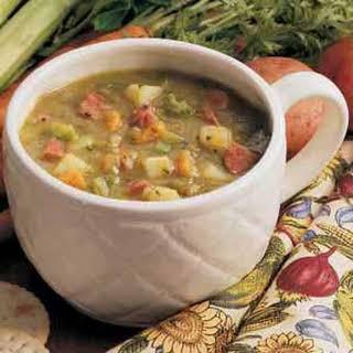 Hearty Split Pea Soup.