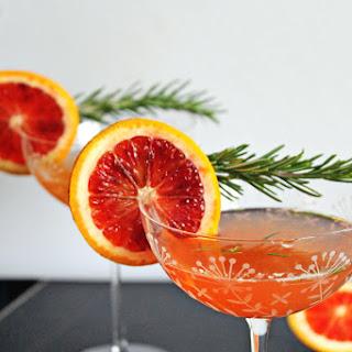 Blood Orange Rosemary Gin Cocktail.