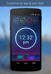 Neon Alarm Clock Free - screenshot thumbnail