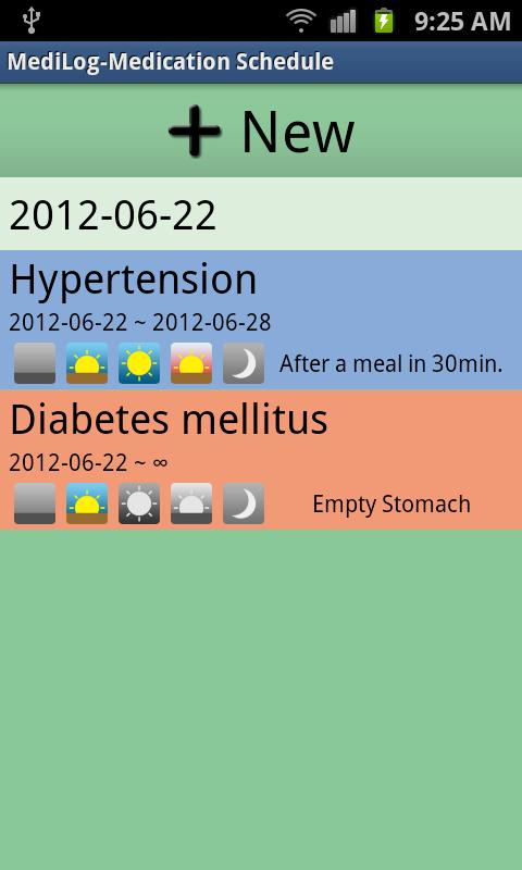 MediLog(Free)- screenshot