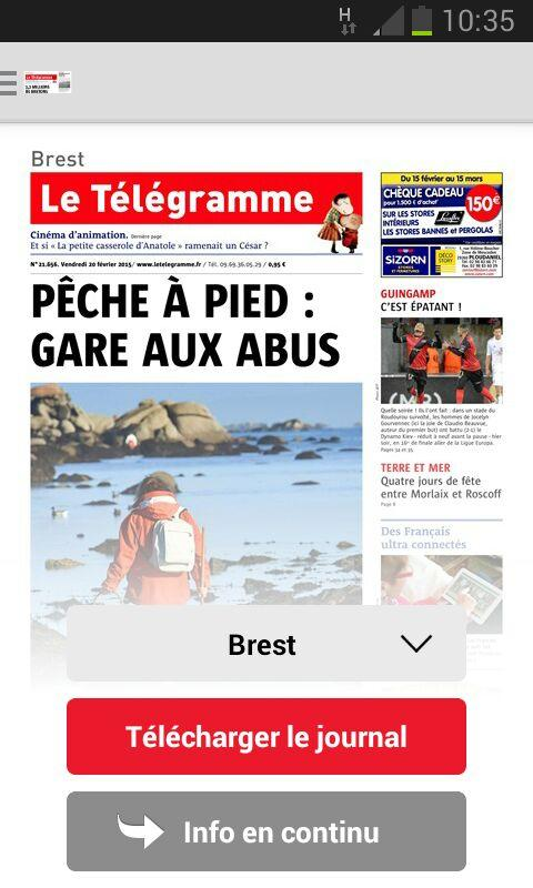 Le Télégramme - Journal- screenshot
