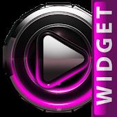 Poweramp skin widget Pink Glow