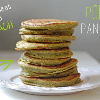 Popeye Pancakes | Whole Wheat, Banana & Spinach Pancakes for Picky Toddlers.